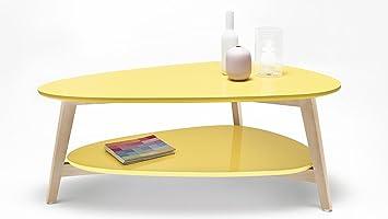Bobochic Table Basse Scandinave Jaune Amazon Fr Cuisine Maison