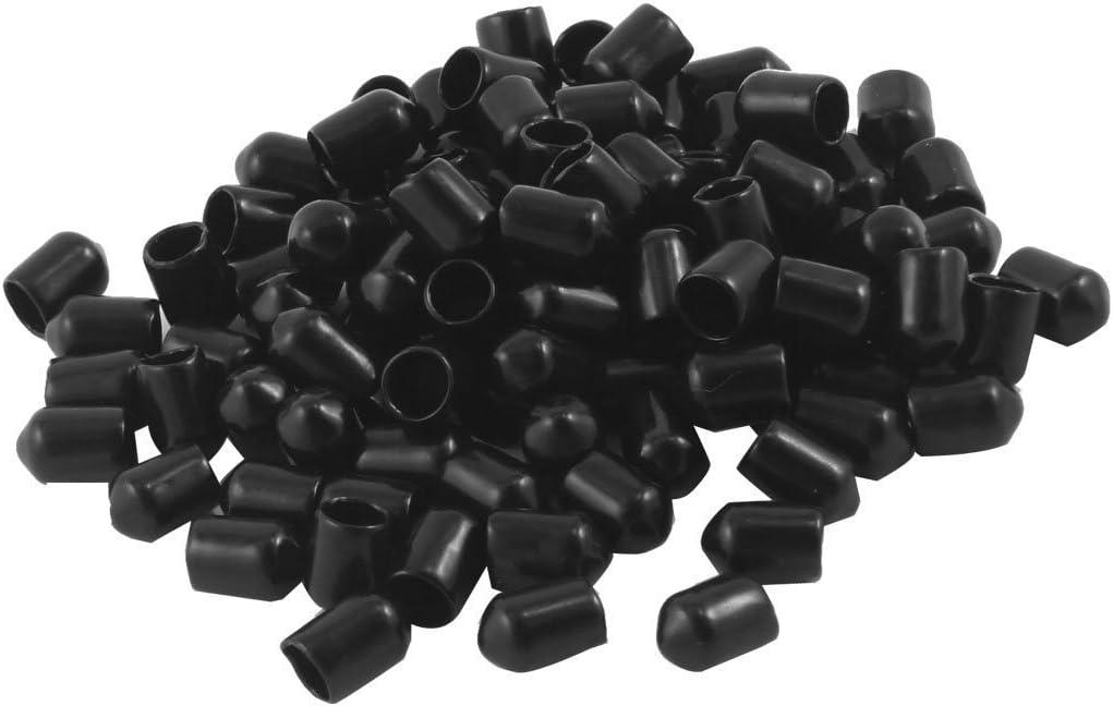 Jocon Safety SF9000 PVC Flexible Vinyl Round End Caps Shelf Organizer Tip Caps Wire Thread Rebar Protector Cover (inner diameter 7mm)