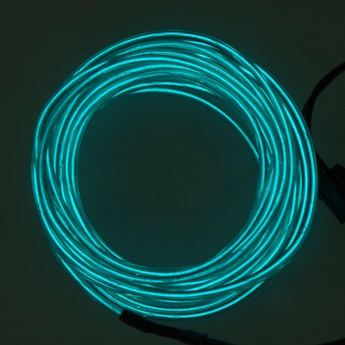 SODIAL(R) Gruen Lichtschnur Leuchtschnur Leuchtdraht EL Neon Kabel ...