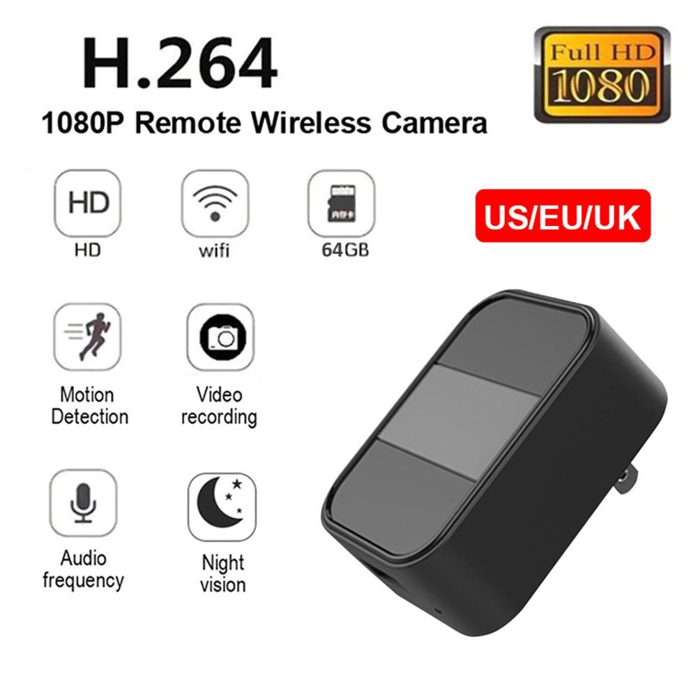 Mini cámara de 4K 2.4G WIFI 1080 Full HD, Soporte 64G TF Tarjeta, camuflada como cargador USB, Infrarroja de Visión Nocturna Teléfono Inalámbrico APP HD USB ...
