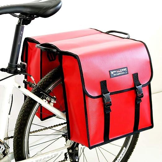WY-AYNG Bolso De Bicicleta En Rack con Doble Alforjas, Bicicleta ...