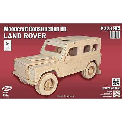 Quay Land Rover artesanía en Madera Kit de construcción FSC: Juguetes y juegos