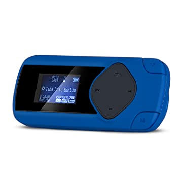 AGPTEK R2S Clip MP3 Player, Mini Lossless Sports Music Player with FM/Recording (
