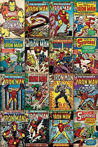 Marvel Póster Iron Man Collage Portadas 61x91,5cm Producto ...