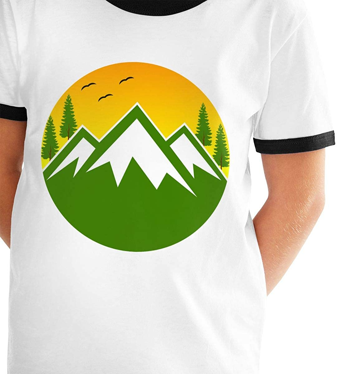 Kids Or Little Boys and Girls Mountain Rise Unisex Childrens Short Sleeve T-Shirt