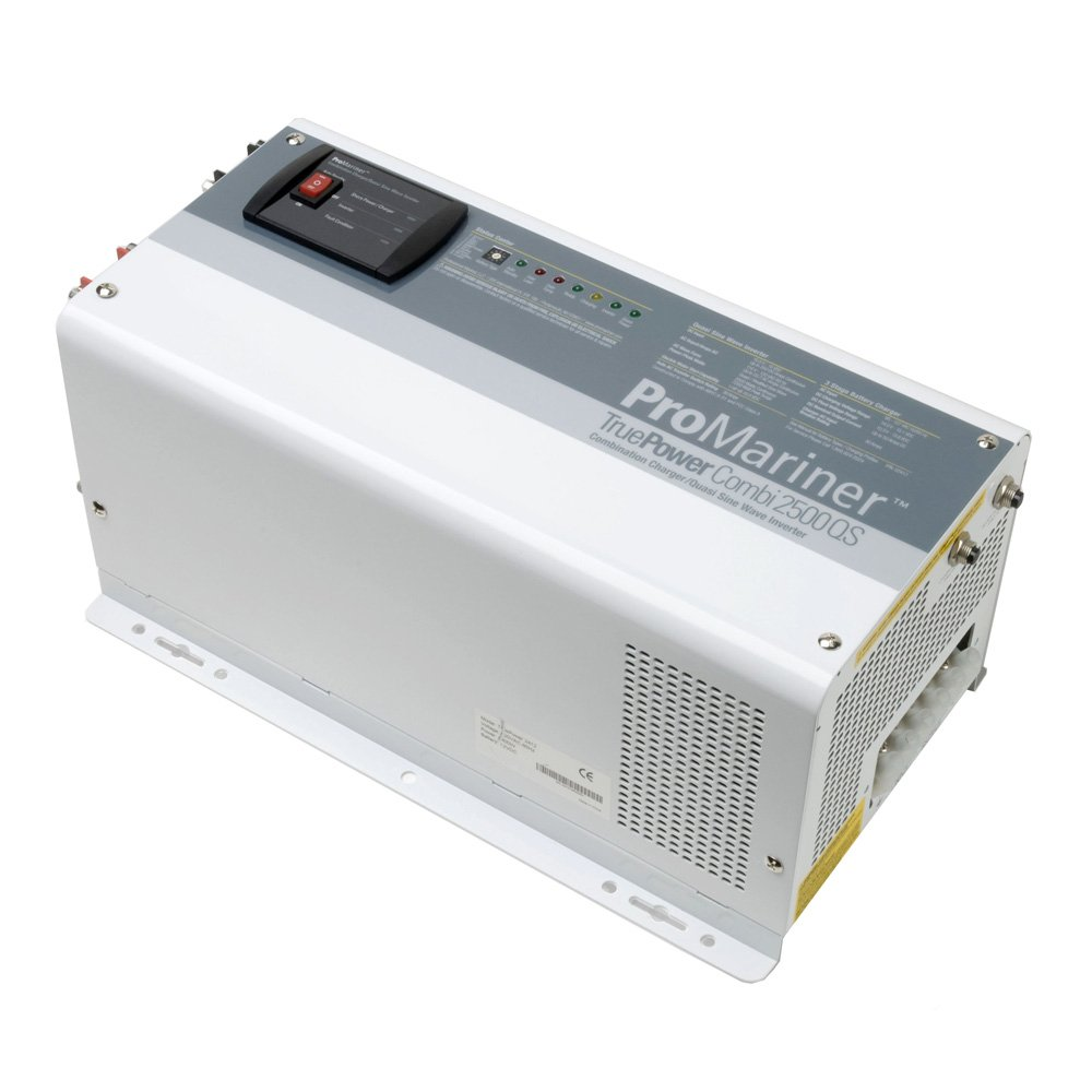ProMariner 02412 True Power 2500QS Inverter/Charger - 2,500 Watt Modified Sine Wave Inverter with 12 Volt, 50 Amp Battery Charger