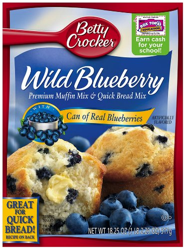 Betty Crocker Muffin Mix Blueberry, 16.9-Ounce Boxes (Pack of 12) by Betty Crocker