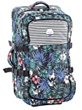 Roxy Anthracite-Swim Belharra Flower In The Clouds - 85 Litre Womens Roller Bag (Default , Black)