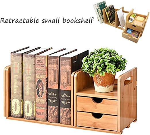 Estante para Libros: Mesa Creativa, Escritorio De Bambú De Madera ...