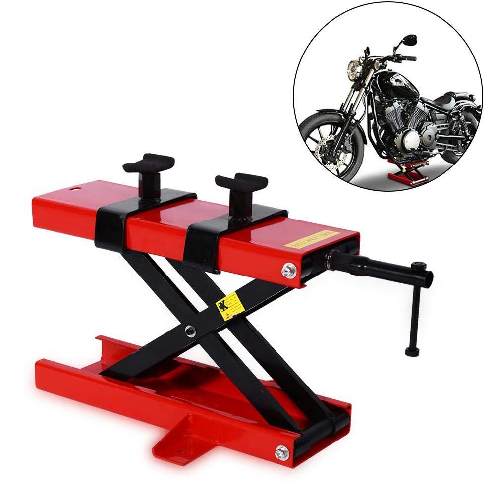 Qiilu Moto gru Sollevatore per riparazione moto Piccola piattaforma di sollevamento meccanica da 500 kg per il monopolio