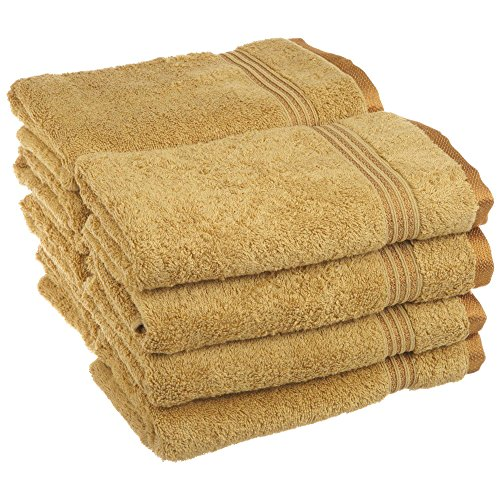 Superior Luxurious Soft Hotel & Spa Quality Hand Towel Set of 8, Made of 100% Premium Long-Staple Combed Cotton - Gold, 16