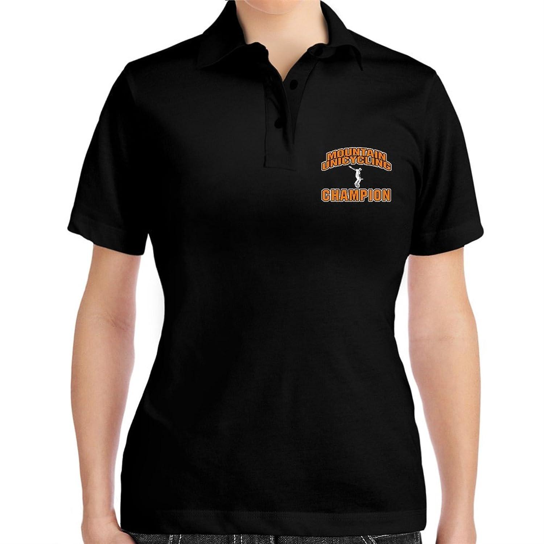 Mountain Unicycling champion Women Polo Shirt