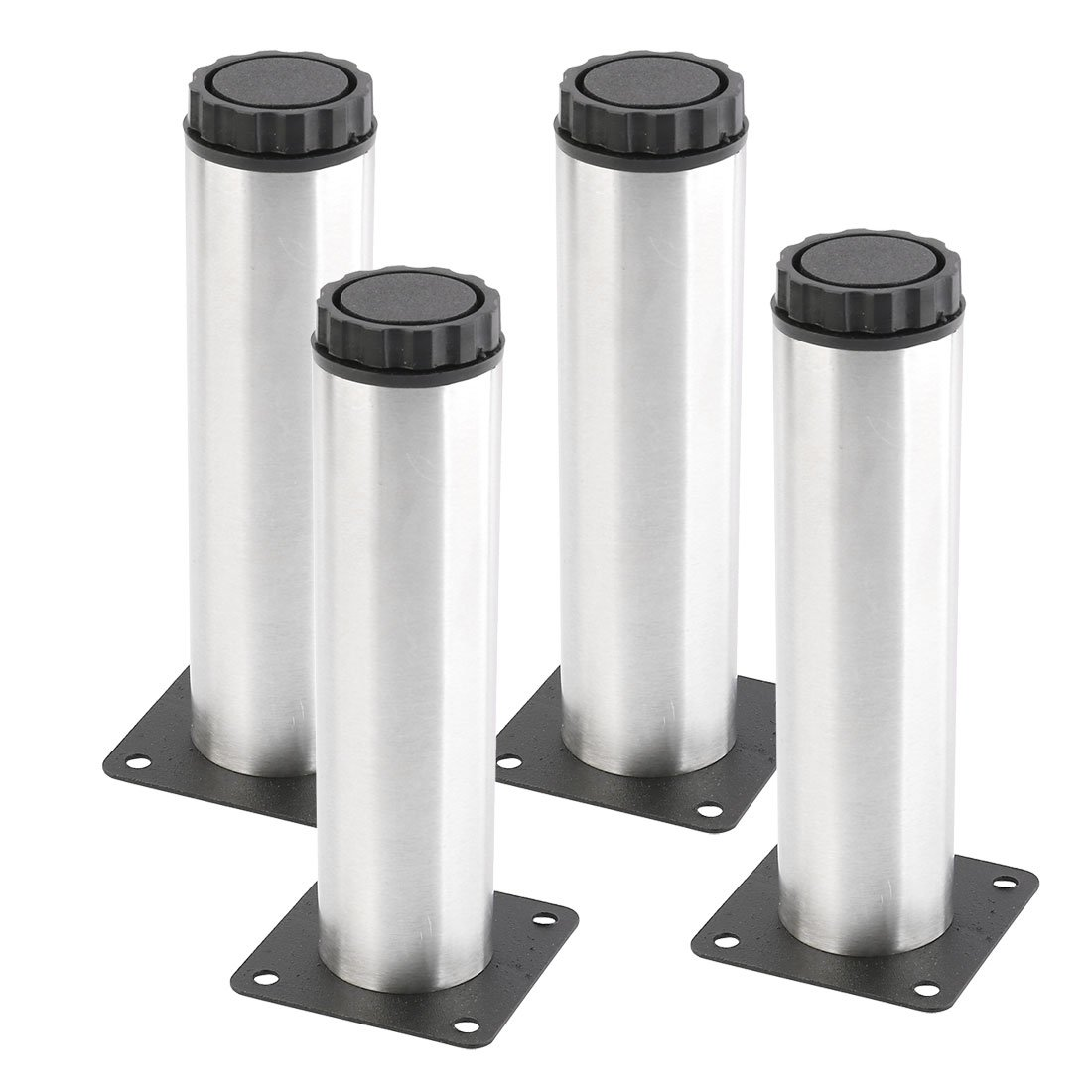 uxcell Stainless Steel Home Rustproof Furniture Chair Sofa Cabinet Protector Foot Legs 4pcs