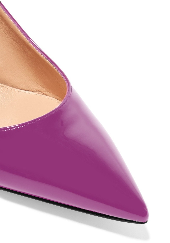 f8f34fed846 ... Sammitop Women s Pointed Toe Slingback Shoes Kitten Heel Heel Heel  Pumps Comfortable Dress Shoes B077RVFCD2 7.5