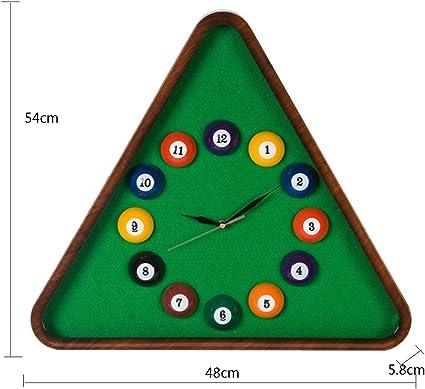 Reloj de Pared con diseño de Bolas de Mesa de Billar, Color Verde ...