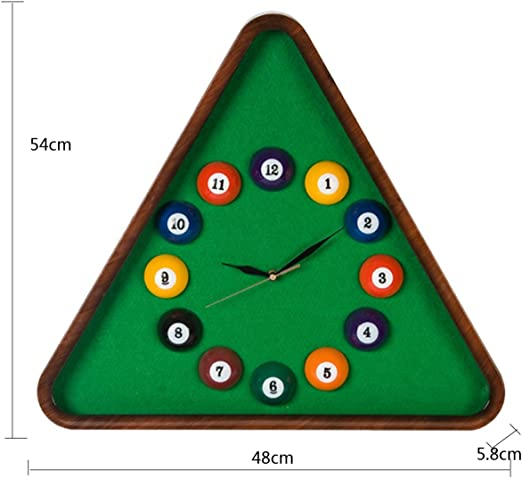HU Reloj de Pared Mesa de Billar Pelota Creativa Personalidad ...