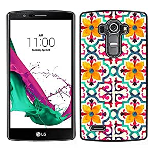 LG G4 / H815 H812 H810 H811 LS991 VS986 US991 Único Patrón Plástico Duro Fundas Cover Cubre Hard Case Cover - Flower Stylized Pattern Yellow