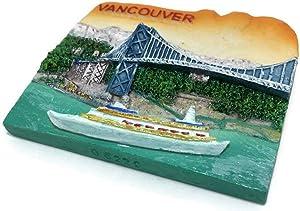 Vancouver Tourism Canada Souvenir Collection 3D Fridge Refrigerator Magnet Hand Made Resin