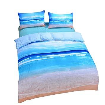 Sleepwish Ocean Themed Bedding Sea Duvet Cover Hot 3D Print Beach Bedding  Set   AU Queen. Amazon com  Sleepwish Ocean Themed Bedding Sea Duvet Cover Hot 3D