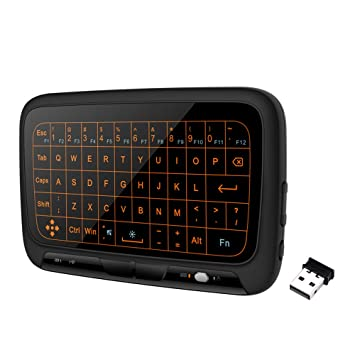 Festnight Teclado Inalámbrico, Teclado Táctil Grande Control Remoto Panel Táctil Completo Retroiluminación Teclado para Smart TV Android TV Box PC Portátil: ...