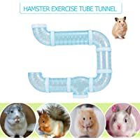 Goolsky Hamster Tube Tunnel Toy DIY Assorted Playground Module Toy Exercise for Hamster Mouse and Other Small Pets