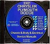 DODGE 1981 Mirada, St Regis & Diplomat + PLYMOUTH Gran Fury Shop Manual CD