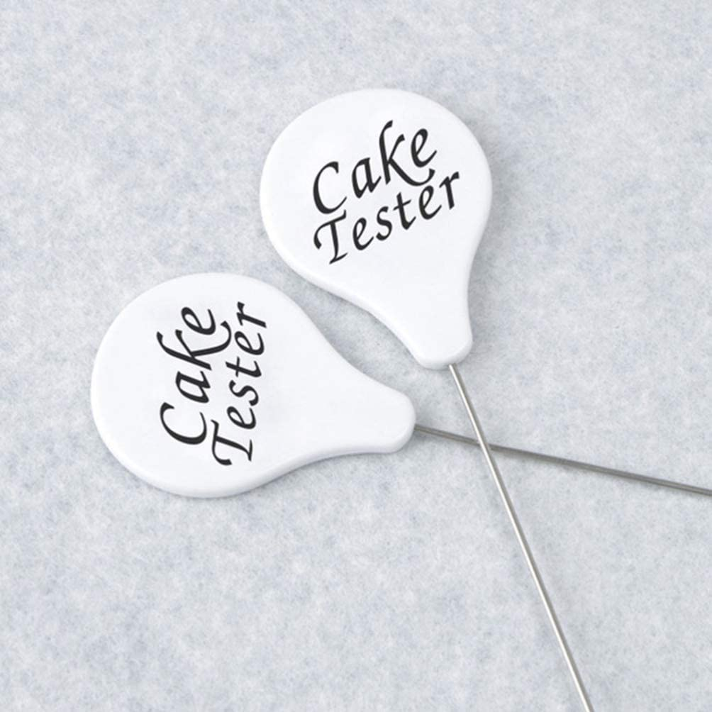 UPKOCH 3pcs Cake Tester Stainless Steel Cake Skewer Kitchen Cake Tester Probe Skewer Pin Needle,Reusable Long Metal Baking Pick Sticks Tool,Cake Tester for Home Bakery Muffin Bread
