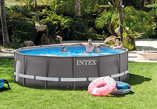 Intex 14ft X 42in Ultra Frame Pool Set with Filter Pump, Ladder, Ground Cloth & Pool Cover (Intex Ultra Frame)