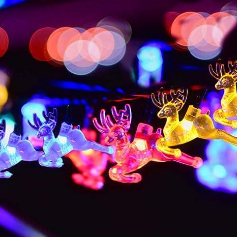 ef72c50aa70 Decoración de vacaciones Iluminación 30LED Energía solar Ciervo sika Cadena  de luces LED Patio