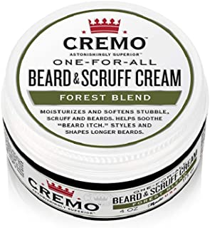 product image for Cremo Forest Blend Beard & Scruff Cream, Moisturizes, Styles and Reduces Beard Itch for All Lengths of Facial Hair, 4 Oz