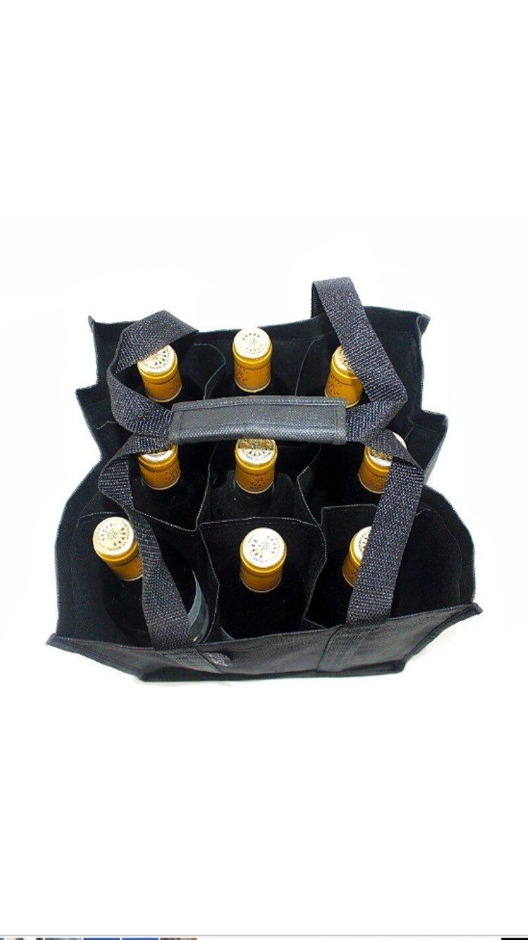 9 bouteilles de 1,5 litre chacune /Porte-bouteilles avec poign/ée renforc/ée/ /Facile /à ranger/ /28/x 28/x 28/c DomSuits Grand sac /à bouteilles Grand format Contient max