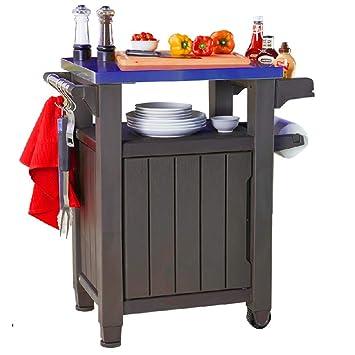 BADAshop - Mesa para barbacoa de acero inoxidable para cocinar al aire libre, para uso
