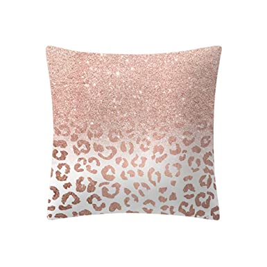 Neeky Square Cover Or Rose Coussin Rose Accueil Accessoires Taie D