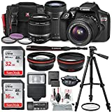 Canon EOS Rebel T6 DSLR Camera Bundle EF-S 18-55mm f/3.5-5.6 IS II Lens, EF-S 55-250mm f/4-5.6 IS STM Lens and Accessories (19 Items)