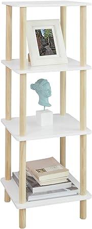 SoBuy STR03-K-WN Estantería de 4 Niveles para Baño Librería Escalera 36 * 36 * 106 cm ES (36 x 36 x 106 cm): Amazon.es: Hogar