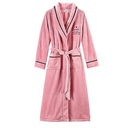 Nan Liang Bata de algodón de Invierno más Pijamas Largos Bata de baño Modelos de otoño