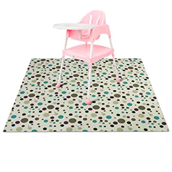 Amazoncom Zicac Splat Mat For Under High Chair Floor Mat Baby
