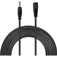 Dericam Universal Câble de rallonge d'alimentation de 3 mètres, cordon de rallonge pour chargeur mural avec adaptateur secteur 5V, connecteur 3.5mmx1.35mm, 5V-3M, Noir