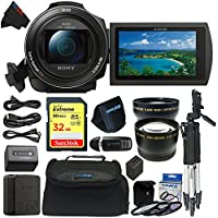 Sony FDRAX53/B FDR-AX53/B FDR AX53 4K HD Video Recording Camcorder (Black) with Pixi-Basic Accessory Bundle