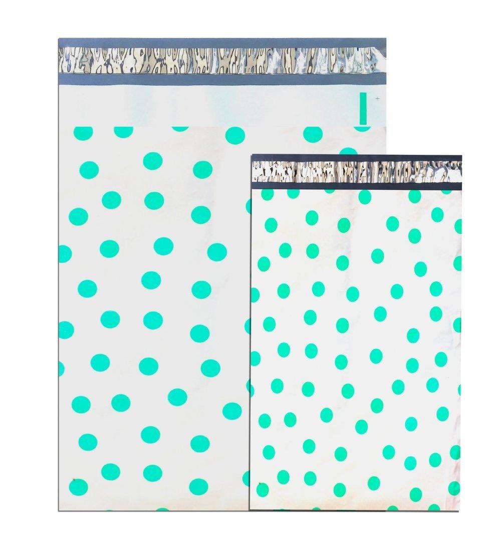 "50-14.5x19"" DESIGNER SERIES ~HOT PINK Polka Dot Poly Mailers USPS Approved"