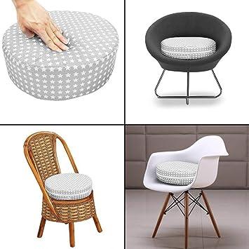 coussin rehausseur de chaise de salle /à manger confortable facile /à nettoyer pour si/èges b/éb/é et chaises pour enfants Coussin de chaise d/émontable pour enfants avec sangles r/églables