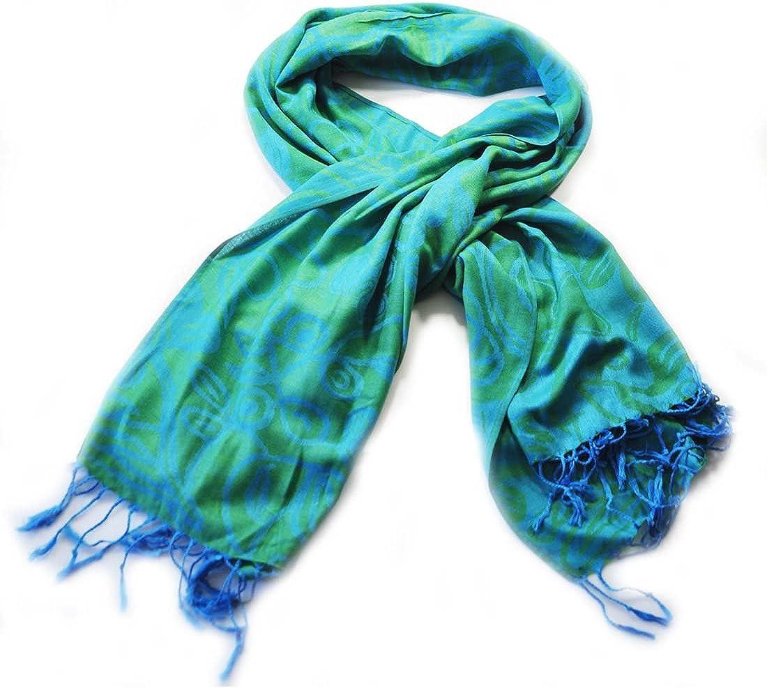 Green /& Blue Shamrock Pashmina Scarf