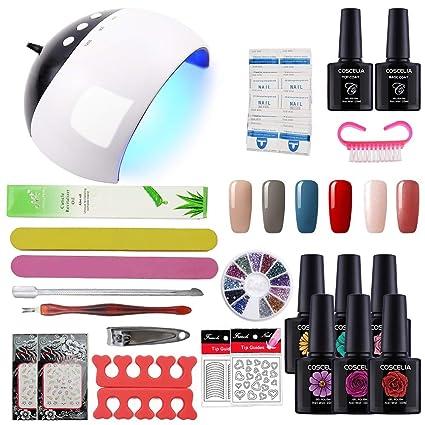 Coscelia Manicura Pedicura Set USB 24W Nail Dryer Lámpara Secador Uña de Esmalte de Gel Nail