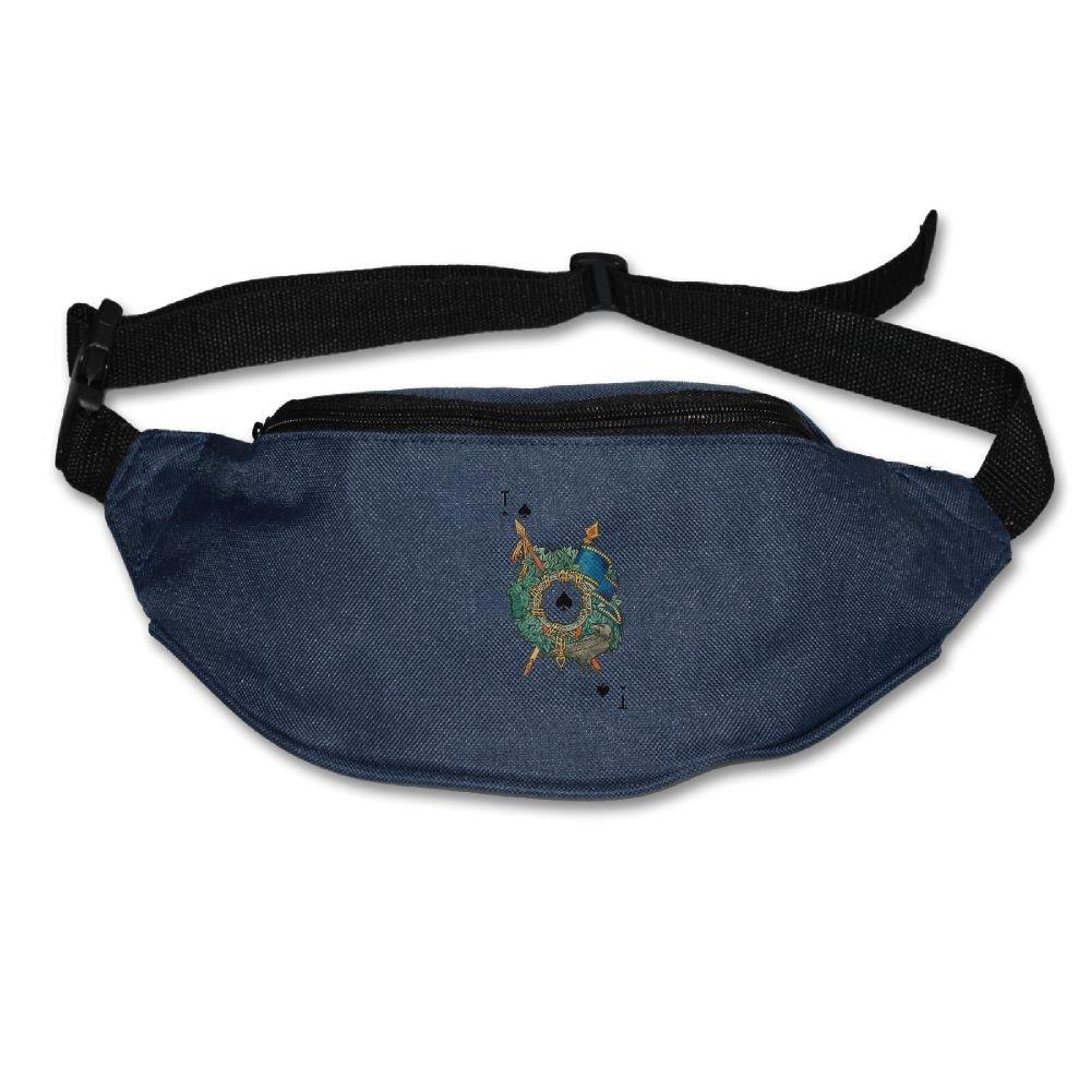 durable service Unisex Pockets Creative Poker Fanny Pack Waist / Bum Bag Adjustable Belt Bags Running Cycling Fishing Sport Waist Bags Black