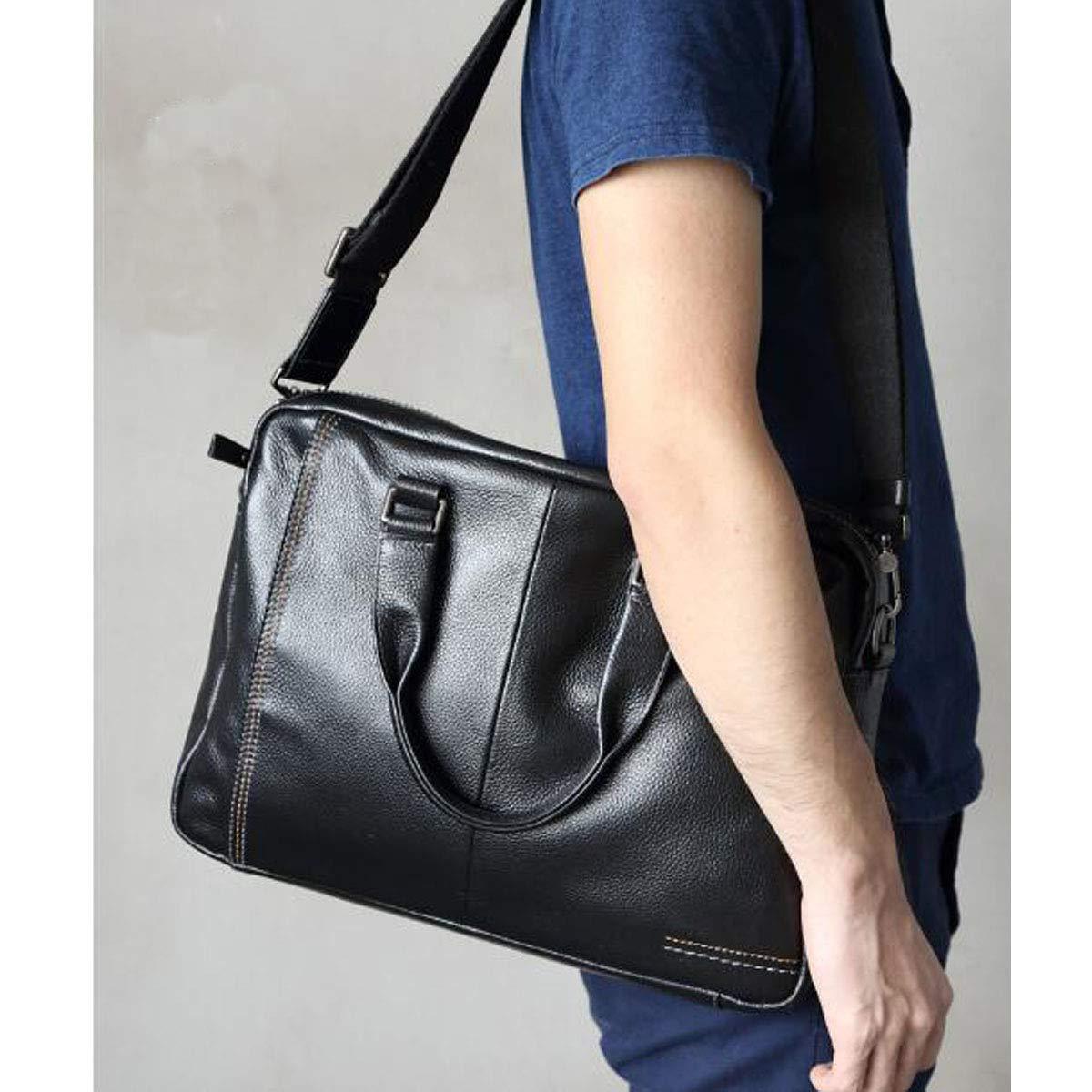 Size: 38828cm Color : Black Kehuitong Briefcase Mens Casual Handbag Large-Capacity Computer Bag