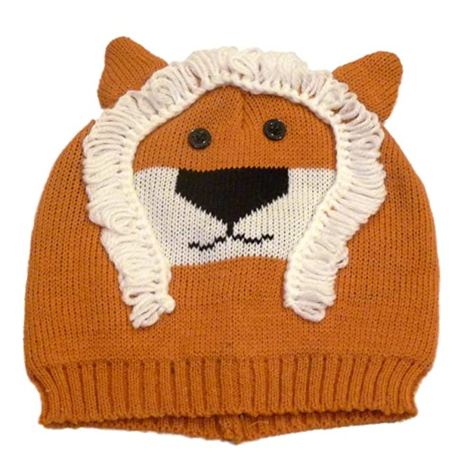 411a9b3139e Image Unavailable. Image not available for. Color  Mambo Hat Womens Knit  Orange Lion Beanie Winter Stocking Cap