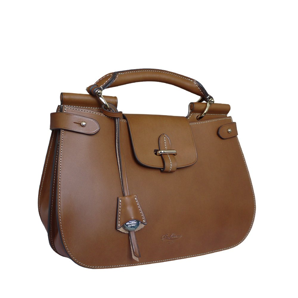 Boldrini Isla Italian Leather Grab Handbag, Shoulder Bag (tan)