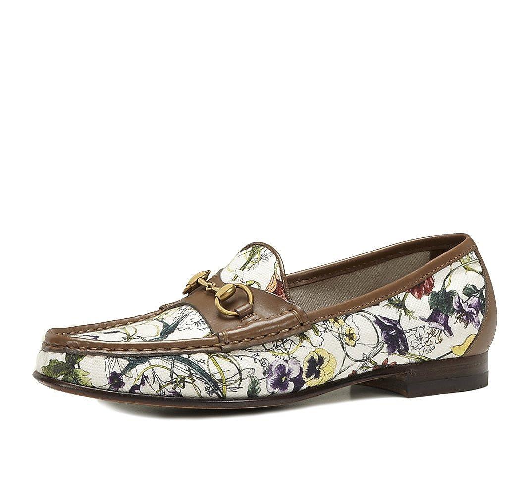 d96409cc3 Gucci Shoes 1953 Horsebit Loafers Mini Flora Infinity Canvas & Leather (IT  34.5 / US 4.5): Amazon.ca: Shoes & Handbags