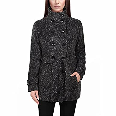 Ike Behar Ladies' Fleece Jacket, Gray/black/charcoal at Amazon ...