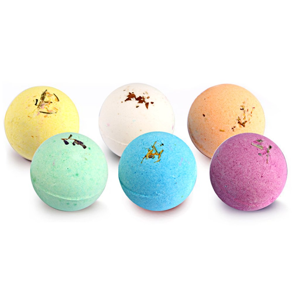 Bath Bombs,LALUZTOP Bath Bombs for Women Kids Girls Her Mom, Bath Bomb Fizzy Bubble Relaxation Gifts,Anniversary and Birthday Gifts, Natural and Organic Bath Bombs,6 Pack Set